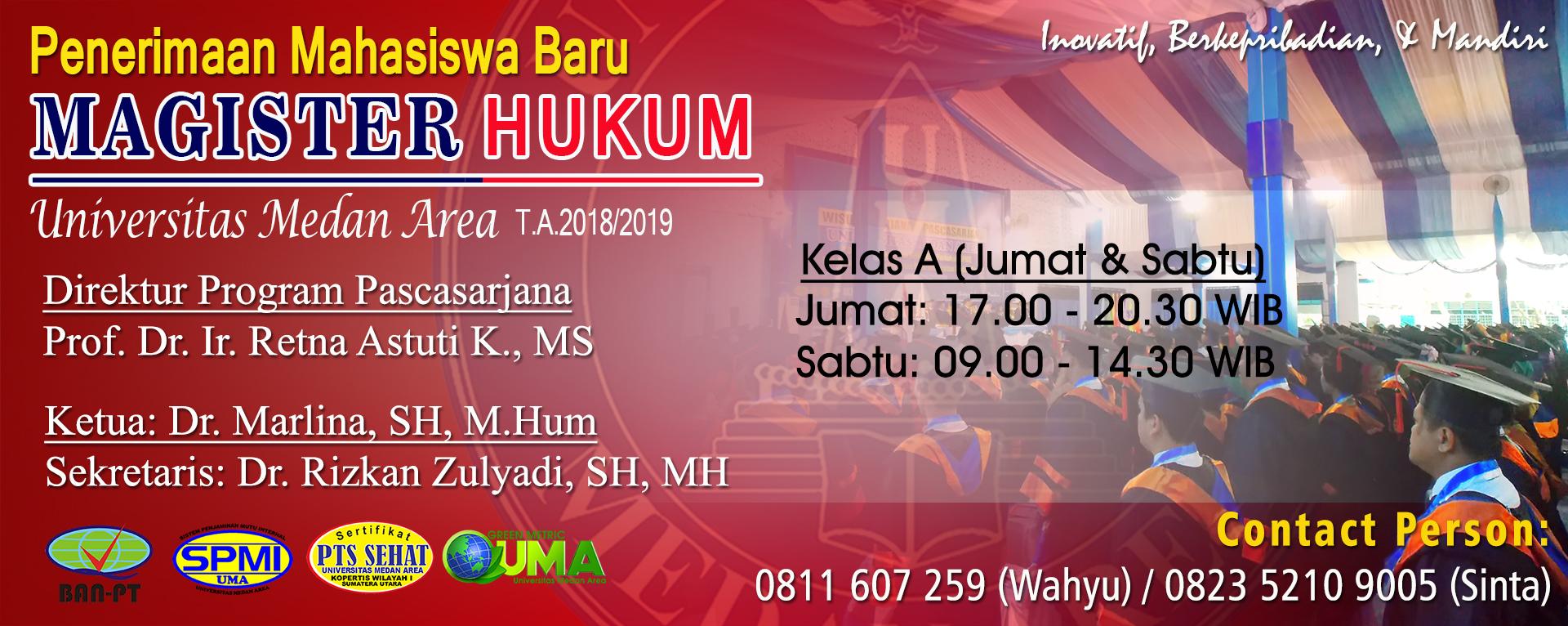 Pendaftaran Mahasiswa Baru MH TA 2018/2019