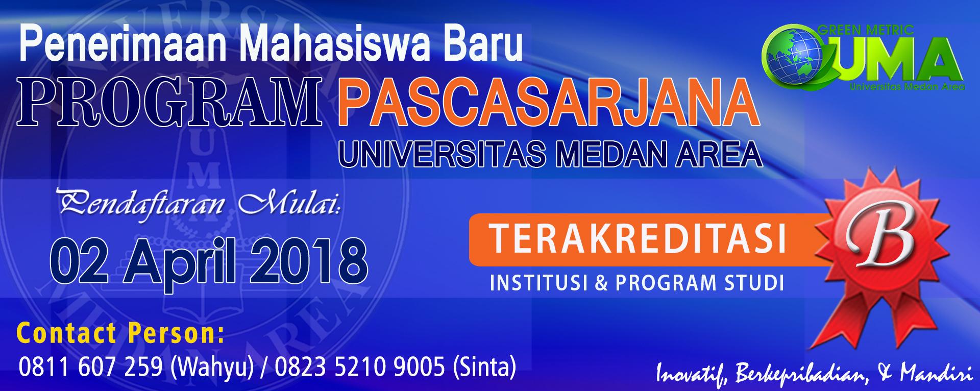 Pendaftaran Mahasiswa Baru TA 2018/2019