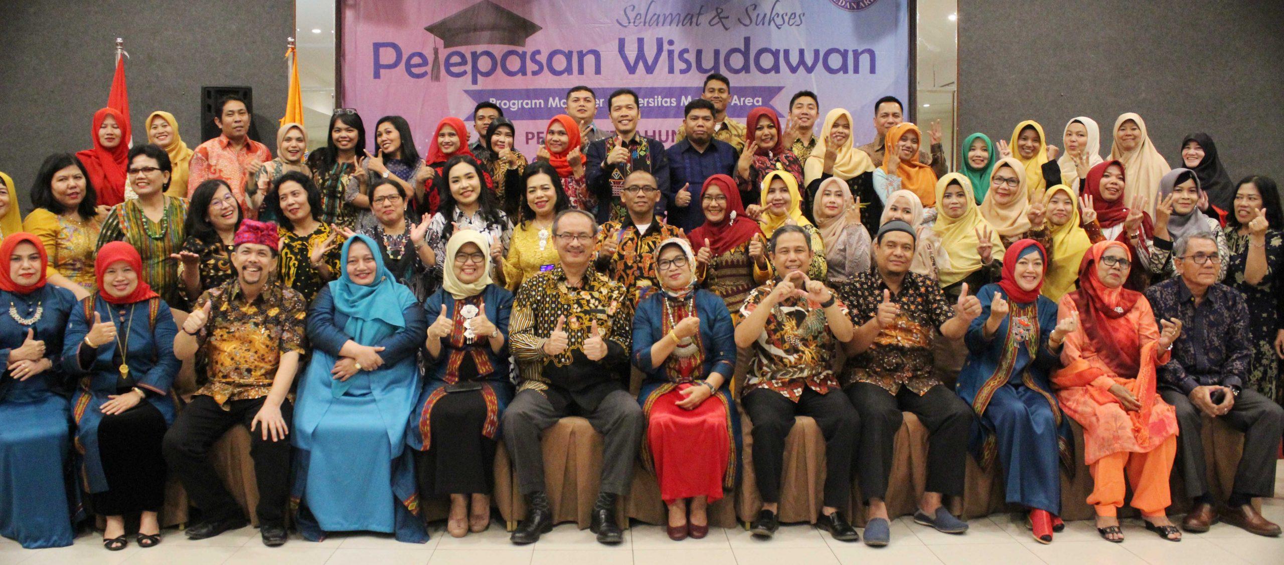 Pelepasan Wisudawan Program Magister Universitas Medan Area Periode II Tahun 2019